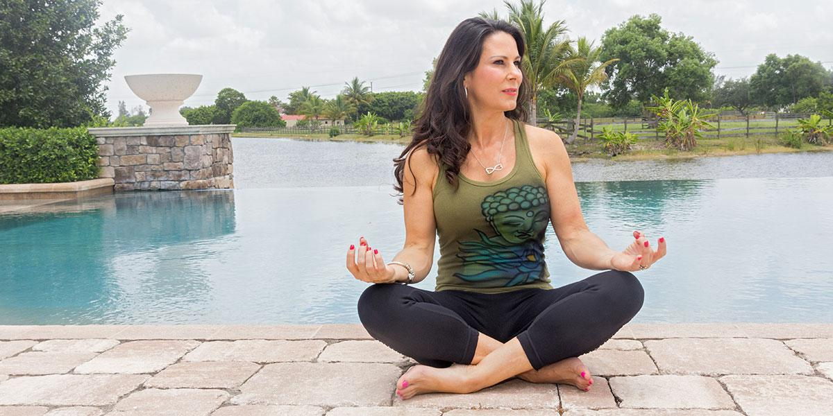 Laura meditating