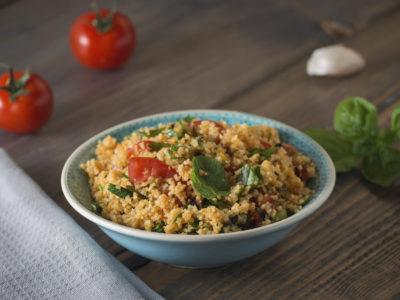 healthy salad with quinoa