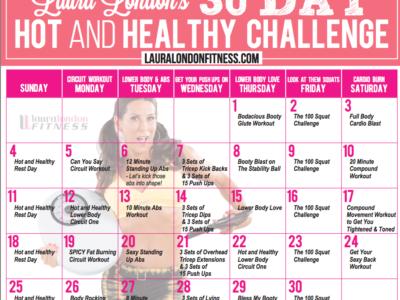 30 Day Workout calendar