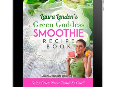 Ipad Laura London's Green Goddess Smoothie Recipe Book