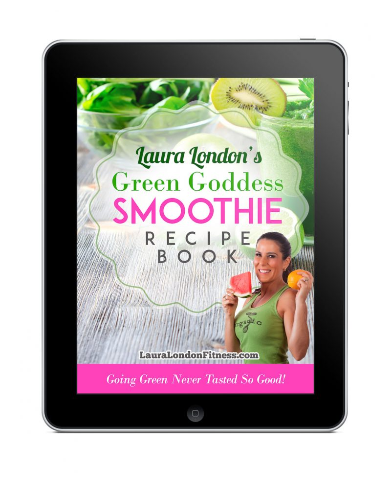 Ipad Laura London's Green Goddess Smoothie Recipe Book