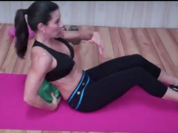 Ab Crunches on the Toning Ball
