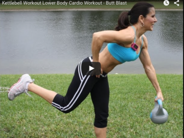 Kettlebell Lower Body Cardio Workout and Booty Blast
