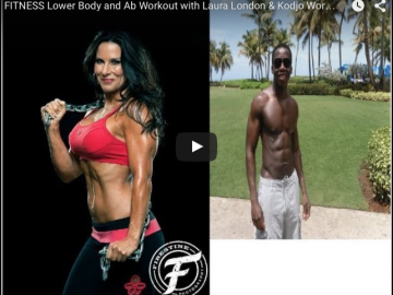 Lower Body And Ab Workout with Laura London & Kodjo