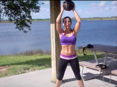 Medicine Ball and Resistance Band Workout