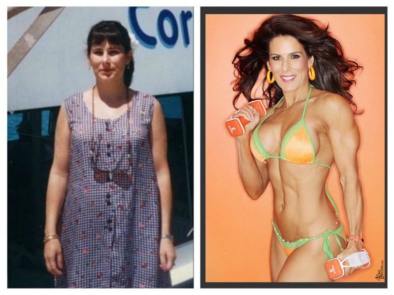 Laura London before and after pic