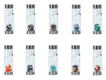 VitaJuwel Gemstone Glass Water Bottle