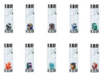 VitaJuwel Gemstone Glass Water Bottle