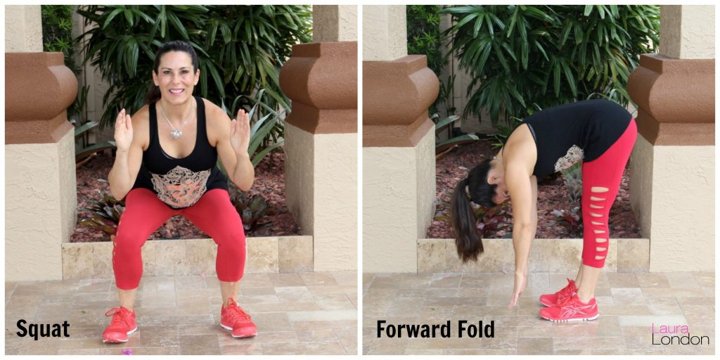 100 Squat Challenge yoga inspired