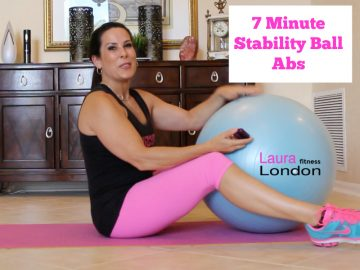 7-Minute Stability Ball Ab Toning Workout