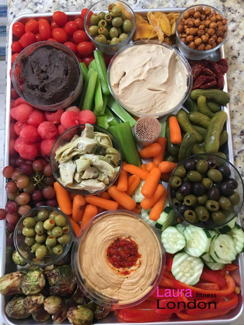 Easy Vegan Mezze Board Appetizer Laura London Fitness